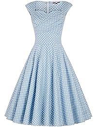 Belle Poque® 50s Rockabilly Kleid Vintage Partykleider Cocktailkleider