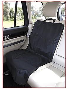 Hunde Autodecke, Schonbezug für Autositz in schwarz, gemütlicher Sitzschoner ca. 113 x 53 cm