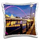Danita Delimont - Bridges - England - Gateshead Millennium Bridge and the Sage - 16x16 inch Pillow Case (pc_208014_1)