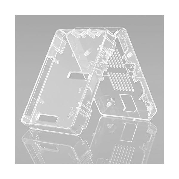 51N5ADamdrL. SS600  - Aukru NUEVO 3-EN-1 Kit de Raspberry Pi 2 Modelo B/B + transparente Caja + 5v 2000mA alimentación + 3 conjunto del disipador de calor