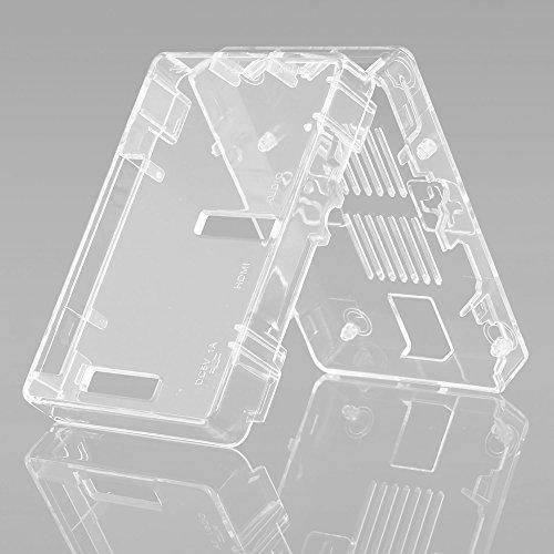 51N5ADamdrL - Aukru NUEVO 3-EN-1 Kit de Raspberry Pi 2 Modelo B / B + transparente Caja + 5v 2000mA alimentación + 3 conjunto del disipador de calor