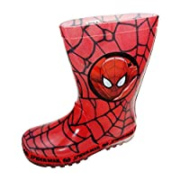 Spiderman Boys Wellies with Light up Heels