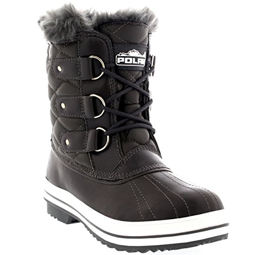Polar Womens Snow Boot Quilted Short Winter Snow Rain Warm...