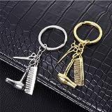 Mddrr Europa und Die Vereinigten Staaten Ebay Waschen und Blasen Haar Kamm Haartrockner Schere Schlüsselanhänger Frauen Tasche Legierung Handy