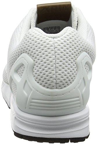 adidas ZX Flux, Scarpe da Ginnastica Basse Uomo Bianco (Footwear White/footwear White/footwear White)