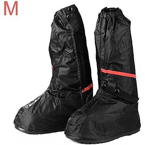 XCSOURCE® Mujeres Hombres Cubiertas para la lluvia zapato unisex Motocicleta Bicicleta engranaje de ciclo Antideslizante Cubrezapatillas impermeables Botas M