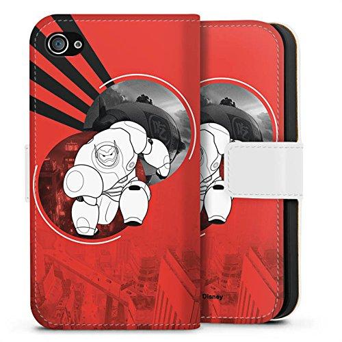 Apple iPhone X Silikon Hülle Case Schutzhülle Disney Baymax Merchandise Sideflip Tasche weiß