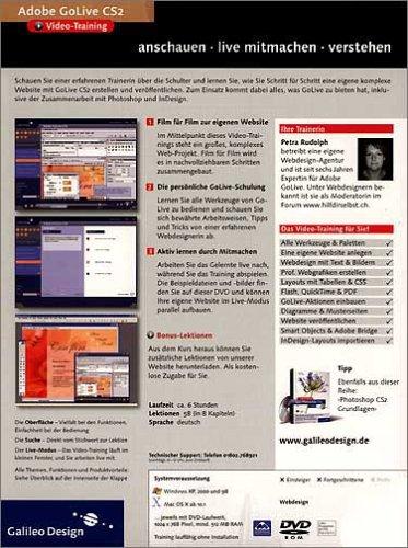 Adobe GoLive CS2 Video-Training (DVD-ROM)