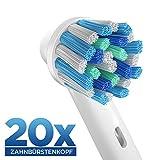 20 pzs. (5x4) Cross Action cabezales para cepillos, compatibles con...