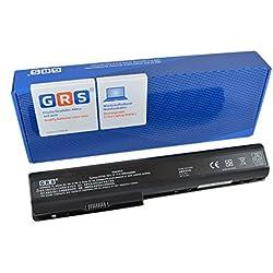 GRS Batterie avec 6600mAh pour HP Pavilion dv7 HDX X18 dv8t dv7t dv8 remplacé: 480385-001 GA08 516355-001 KS525AA 464059-141 HSTNN-OB75 516916-001 HSTNN-DB75 HSTNN-IB75 6600mAh, 14,4V 95Wh