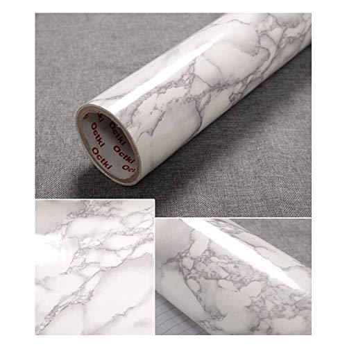 JLCorp 40 cm x 200 cm Weiß Grau Marmorkontakt Papier Tisch-Tür Aufkleber selbstklebend Folie Abziehen Tapeten Glänzend Arbeitsplatten Regal Liner Aufkleber Grau Möbelaufkleber
