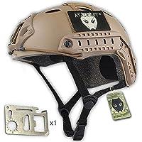 Fundas para accesorios DE estilo militar del ejército casco Fast SWAT DE tipo PJ para sacar fotos DE Airsoft y Paintball