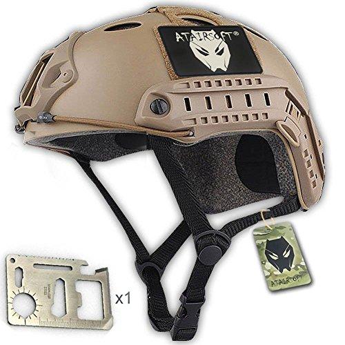 Army Military Style-SWAT Kampf PJ Typ Fast Helm DE für CQB Airsoft Paintball Schießen L/XL