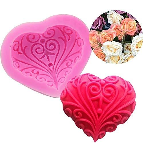 display08Love Herz Silikon Form Kuchen Fondant Schokolade DIY Backen Valentine 's Day Geschenk–Herz