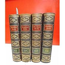 Goethes Werke . In sechszehn Bänden . Mit Einleitung von Franz Schultz . ( 16 Bände in vier Büchern )