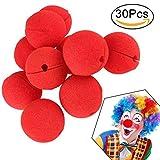 INTVN Naso da Clown,Schiuma Naso da Clown, Spugna Clown Nose Rosso Pagliaccio Circus Party Halloween Costume (30 Pack)