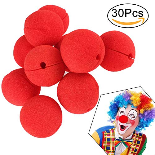 Zirkus Party Kostüm - INTVN 30 Stücke Rot Clown Nasen