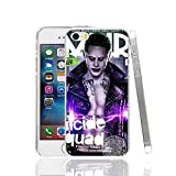 Ch le Joker Jared Leto Suicide Squad iPhone X Coque Super-vilain Superhero Fantasy Science Fiction film 10 Coque Harley Quinn Margot Robbie DVD Movie Bande dessinée Super Hero Batman, plastique rigide