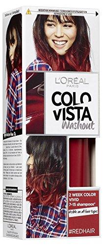 Colovista 2-Week-Wash-Out, tinta per capelli numero 12 di colore rosso, durata del colore: 2 settimane