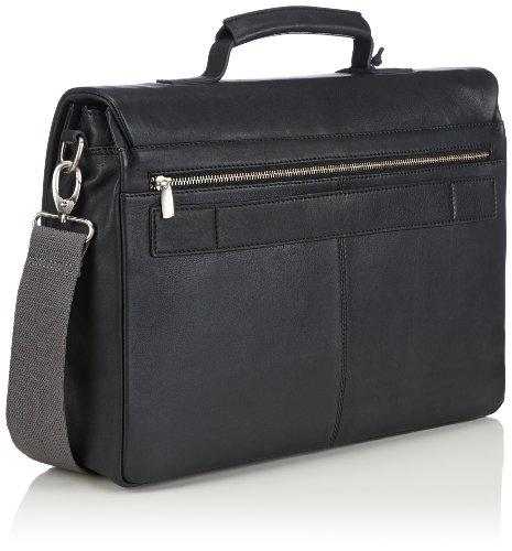 Bugatti Bags Manhattan 49111201 Unisex-Erwachsene Schultertaschen 40x29x11 cm (B x H x T) Schwarz (schwarz 01)
