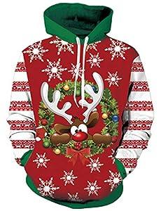 Loveternal Navidad Reno Hoodie 3D