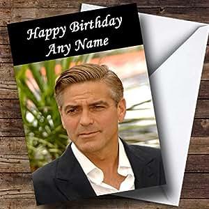Personnalisé George Clooney Carte d'anniversaire