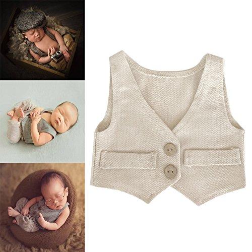 Newsbenessere.com 51N5KLj4qtL Bambino Foto Puntelli Neonato Fotografia Props Prima infanzia Abbigliamento 0-2 mese Tuta Vest