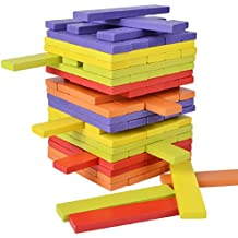 Wackelturm rund bunt Turm Bauen Holzspielzeug Holz spiel Geschicklichkeitsspiel Motorikspielzeug