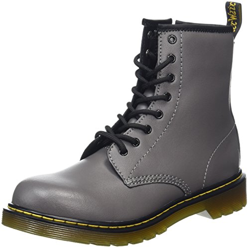 Dr.Martens Youth Delaney 8-Eyelet Lead Leather Boots 38 EU (Boots Ankle Eyelet)