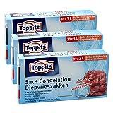 Toppits Tieffrierbeutel 3L (25 x 27cm), 3er Pack (3 x 30 Beutel)