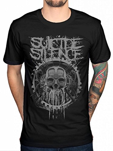 Official Suicide Silence Head Machine T-Shirt Deathcore Music Album Chris Garza