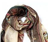 Outstanding weiche lange Druck-Schal der Damen-Frauen wickelt Schal für Frühlings-Herbst-große Silk Schals ein