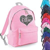 Personalised Heart Name Backpack Rucksack School bags Girls Personalised Bags