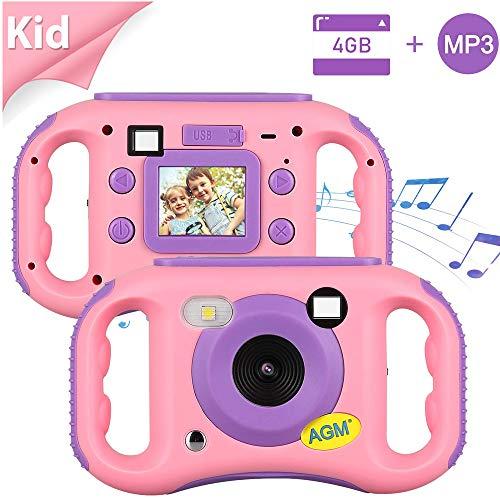 Cámara para Niños, AGM MP3 Cámara de Video para Niños con 1.77' HD Color Pantalla Digital Cámara Memoria incorporada de 4GB para Chicas y Chicos, Regalos de Cumpleaños