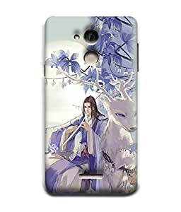 PrintVisa Designer Back Case Cover for Coolpad Note 5 (girl playing flute with reindeer)