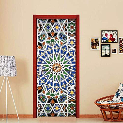 Keramik Kühlschrank Fliesen Tür Aufkleber dekorative Aufkleber abnehmbare Wandtür Aufkleber Wand entfernbare Aufkleber zu Hause 77 200cm - Dekorative Keramik-wand-fliesen