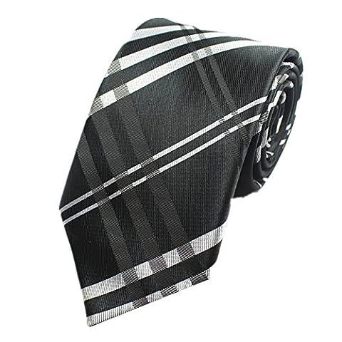 Z-P Mens Black Luxury Elegant Necktie Knit Woven Jacquard Tie