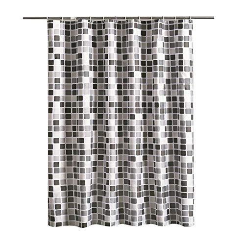 KNSAM Rideau de Douche Check Design Polyester Imperméable Anti Moisissure Rideau Salle de Bain 200x240cm