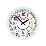EasyRead Time Teacher Kinderwanduhr, zum Lernen der 12- & 24- Stunden-Zeit. Mit geräuschloser Bewegung. So lernt Ihr Kind, die Uhrzeit in 2 einfachen Schritten abzulesen. Für Kinder im Alter von 5-12 geeignet.