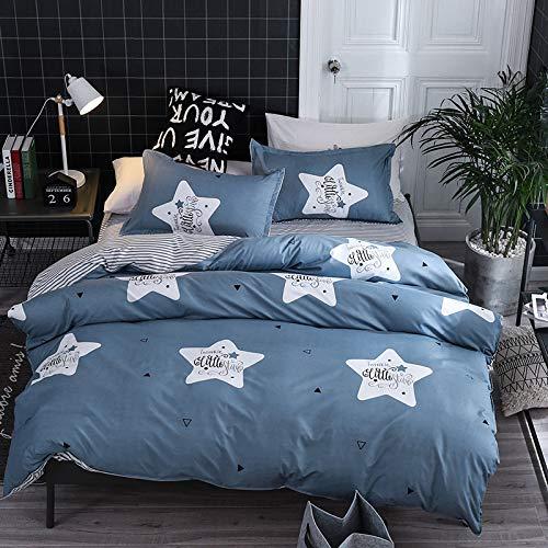 SOMESUN Stern Funkeln 4 Stück Bettwäsche Zuhause Wohnheim Schlafzimmer Tagesdecke Bettlaken Kissenbezüge Gemütlich Weich Atmungsaktiv Elastisch Bettdecke Bettwäsche Set