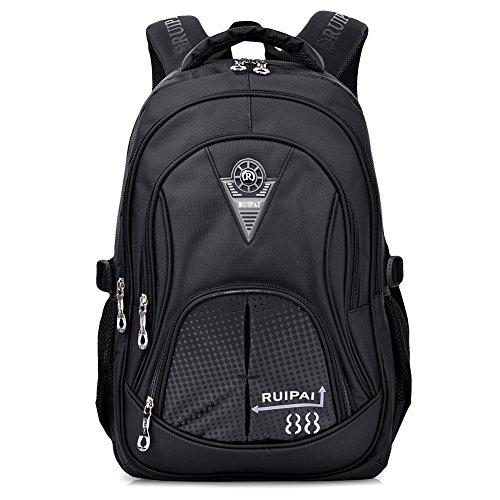 Imagen de vbiger niños  bolsa viaje  escuela con correas ajustables negro 2