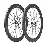 VCYCLE 700C 60mm Schlauchreifen Carbon Rennrad Laufradsatz 23mm Breite Röhrenförmigen Shimano oder Sram 8/9/10/11 Speed