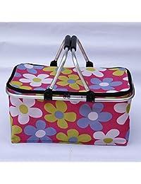 VelKro Imported Foldable Reusable Shopping Bag Grocery Basket - Pink (1 Pc)