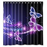 Relax pink lila Schmetterling Shining Light unter BLUE SKY Wasserdicht Duschvorhang 167,6cm (W) X 182,9cm (H)