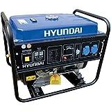 Hyundai HY 6500 - Generador de corriente, 5,5 kW, grupo electrógeno