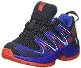 Salomon XA Pro 3D J, los Zapatos al Aire Libre de Multideporte Infantil, Azul (Deep Blue Yonder/Lava Orange), 32 EU