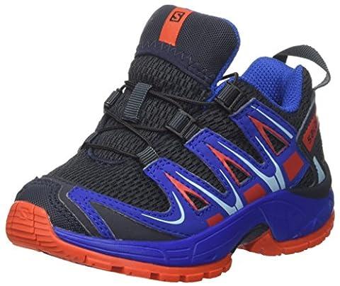 Salomon Xa Pro 3d J, Chaussures Multisports De Plein Air Mixte Enfant, Bleu (Deep Blue/Blue Yonder/Lava Orange), 37