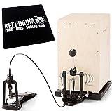 CAP 100 Cajon Pedal Fußmaschine inkl. Tasche u. Bodenplatte + KEEPDRUM Sitzpad CP01