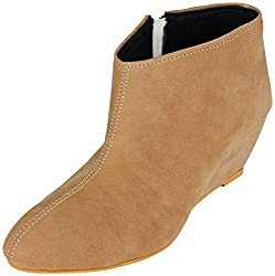 Meriggiare Women Fabric Tan Boots 40 EU