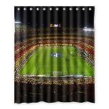 Dalliy Brauch Fu?ball-Stadion Wasserdicht Polyester Shower Curtain Duschvorhang 152cm x 183cm